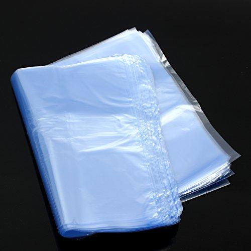 100 Stks PVC Heat Shrink Wikkel Tas Film Clear Flat Opslag Tas Zeep Kaarsen Verpakking 2030cm
