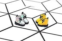 1ペアの眩しいOb11人形マーティンブーツミドルブーツのための短いブーツホルラOB11人形アクセサリーシューズのための短いブーツ,黄