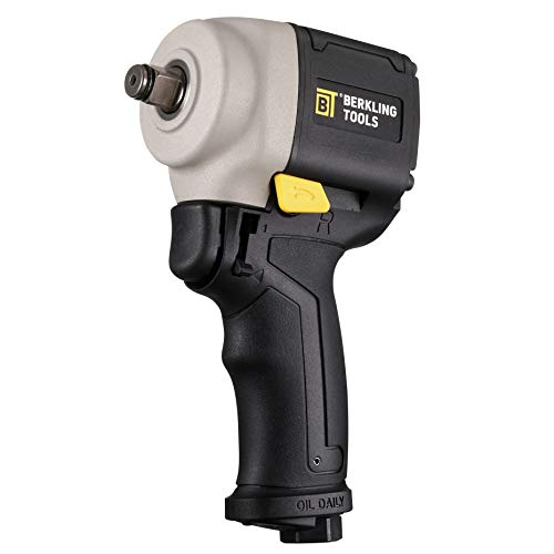Berkling Tools 2443J Mini Compact 1/2' Air Impact Wrench - Pneumatic, Light Weight, Jumbo Hammer, Composite Handle | Fits in the Palm and Easily Get Into Tight Confined Space