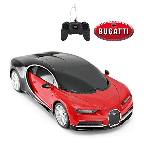 RASTAR Bugatti Toy Car, 1/24 Scale Bugatti Chiron RC Model Car, Red