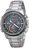 Casio Men's Edifice Quartz Watch with Stainless-Steel Strap, Silver, 22 (Model: ECB-800DB-1ACF