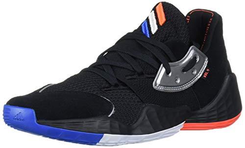 adidas Men's Crazy X 4 Basketball Shoe, Core Black/Silver Met./Bright Blue, 11 Standard US Width US