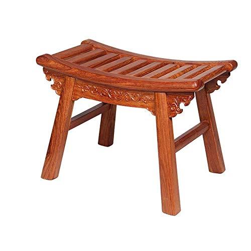 KOIUJ Sofa Hocker Startseite Dekorative Removable Palisander Holzbeine Adult Erholung Couchtisch Hocker (39 * 21 * 28cm, Farbe: Log-Farbe)