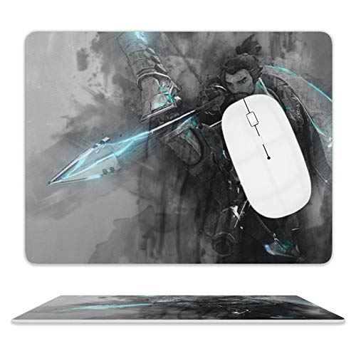 IFMAXCOX Over-Watch Hanzo Gaming Mouse Pad Waterproof Mouse Pad Leather Base for Computers Laptop 8 x 10 Inch