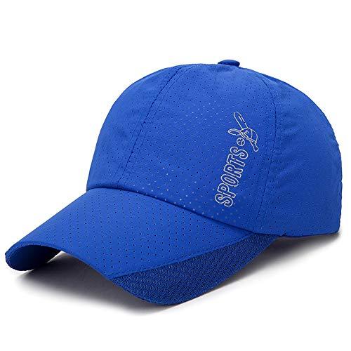 Schnelltrocknende Hut Baseballbaseballmütze, Unisex Outdoor Sports Cap Wasserdicht Männer Sonnenhut Adjustable Faltbare Cap,Blau