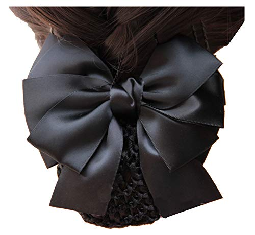 Femmes Barrette Barrette à Cheveux Bun Snood Hairnet Accessoire De Cheveux, Noir