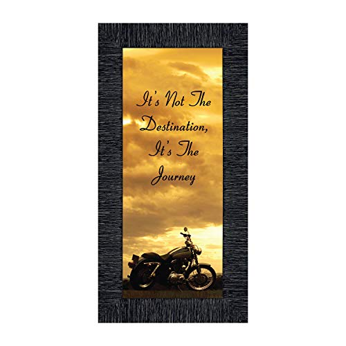 Crossroads Home Décor Its Not The Destination, Motorcycle Gifts for Men, Harley Davidson Photo Frame, 7860CH