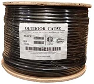 InstallerParts 1000 Ft CAT 5E 350MHz Direct Burial Outdoor High Performance cm/CL2 Type UL/CSA Listed Data Cable - Black Jacket