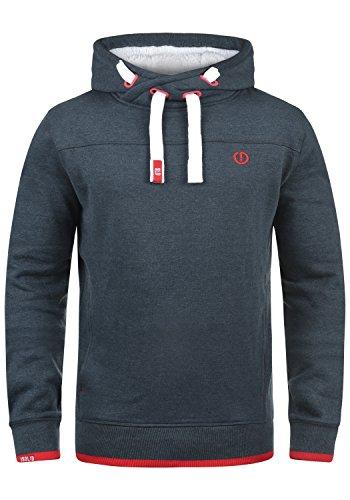 !Solid BenjaminHood Pile Herren Kapuzenpullover Hoodie Sweatshirt mit Teddy-Futter Meliert, Größe:M, Farbe:INS BLU M (P8991)
