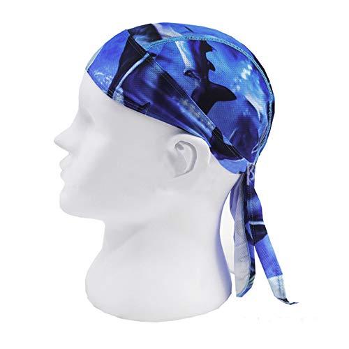 Afinder Unisex Bandana Cap Sport Kopftuch Kopfband Biker Hat Piratentuch UV Schutz Schnelltrocknend Stirnband Sport Fahrrad Radsport Motorrad Mustern Mütze - 4