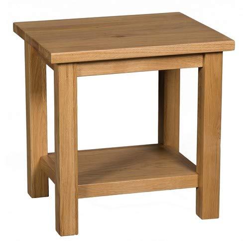 Hallowood Waverly Petite Table Basse avec Lampe latérale en Bois Massif pour téléphone/Chevet ou Table de Chevet en chêne Clair