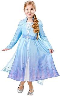 Rubies Disney Frozen 2 Elsa Travel Deluxe Girl Costume, Medium, blue