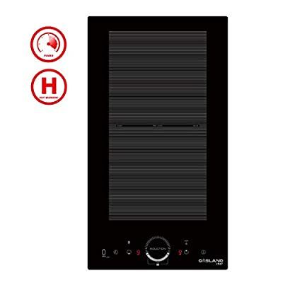 "12"" Built-in Induction Cooktop, GASLAND Chef IH30BFH 240V Electric Induction Hob, Drop-in 2 Burner Induction Stovetop, 9 Power Levels, Sensor Touch Control, Child Safety Lock, 1-99 Minutes Timer"