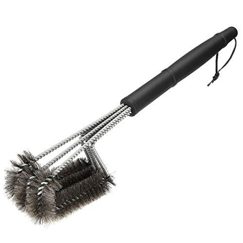 Rehomy Cepillo para parrilla de acero inoxidable, cerdas de alambre