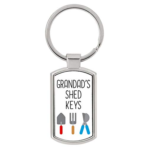 Personalised Shed Keys Metal Keyring Gift Present