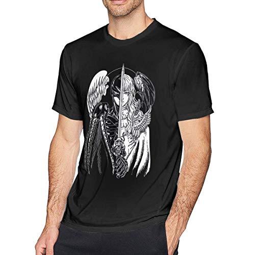 xijia maoyi Anime Berserk Griffith Short Sleeve Camiseta/T-Shirt Top for Hombre/Men X-Large