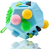 VCOSTORE 12 Sides Fidget Cube, Dodecagon Fidget Toy Dice Stress and Anxiety Relief Portable for Children and Adults with...