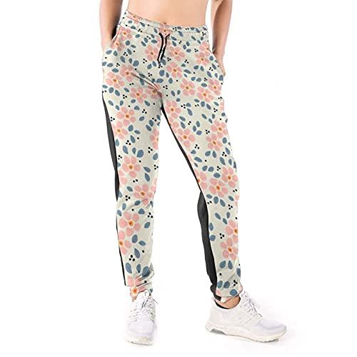 Bettiboy Pantalones deportivos para mujer con bolsillos con cordón y pantalones de yoga, blanco, XL