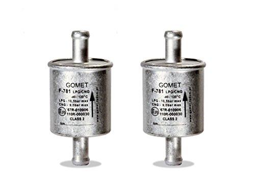 2 x Gomet LPG Filter F781, 14mm, 100mm, Gasfilter