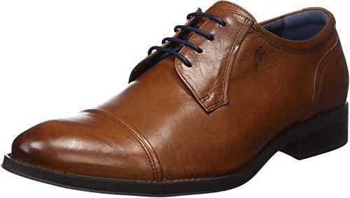 Fluchos Zapatos de Cordones Derby para Hombre, Marrón