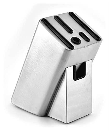 Bloque de cuchillo Moderno de acero inoxidable Cuchillo universal Bloque de cuchillo de cuchilla Organizador de almacenamiento para cuchillo Organizar y almacenamiento Cuchillo Hack Cuchillo Holder po