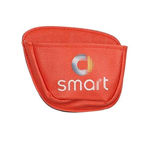Bolsa Almacenamiento Coche Monedero Teléfono Monedas Bolsa Almacenamiento Decorativa para Llaves para Smart 453 Fortwo Forfour Accesorios Interiores Estilo Coche (Color : Naranja)