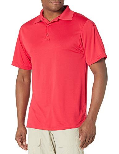 TRU-SPEC Men's Performance 24-7 Polyester Short Sleeve Polo Shirt, Range Red, 4X-Large - Regular