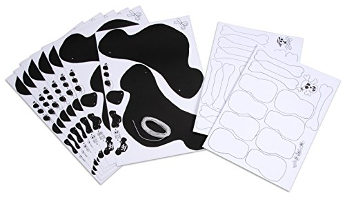 Unbekannt Piratenhut-Bastelset, 8 Hüte, Ausschneiden, Bekleben und Gestalten, Kindergeburtstag, Karneval, Party, passt um jeden Kopf, qualitativ hochwertige Pappe