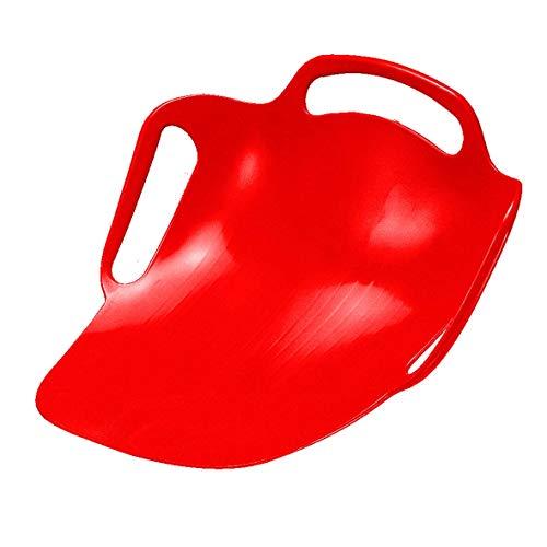 elasto Ergonomischer Schneeteller SEAT Schneerutscher Poporutscher mit Griff Rodelteller für Hohe Geschwindigkeit (Rot)