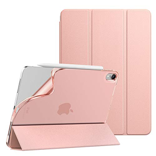 Dadanism iPad Air 4 Case 2020 iPad 10.9 Case,Slim Smart Shell Stand Folio Case with Soft TPU Translucent Frosted Back Cover for iPad Air 4th Generation 2020, Auto Wake/Sleep, Rose GOLD