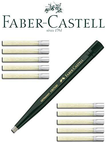 Faber-Castell Drehstift mit Glasradierer (1 Stift + 10 Ersatzminen)