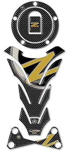 Kit de Pegatinas en Gel 3D Compatible con Kawasaki Z750-Z1000 hasta 2006 - Carbono Oro