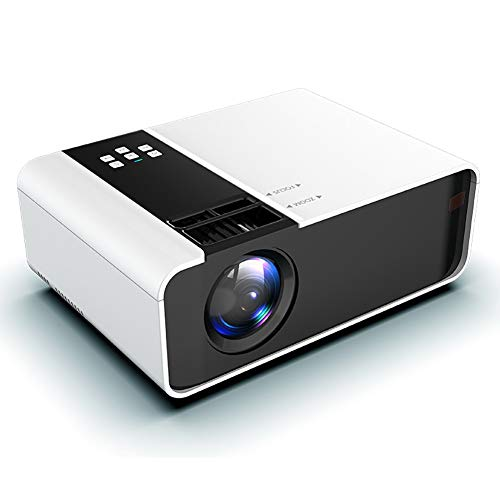 Proyector LED, 1080p Wireless Wifi Vedio Beamer, 6000 lúmenes Proyector portátil con 30.000 horas de vida de la lámpara LED, compatible con Hdmi, Vga, Av y Usb (Color: Blanco)