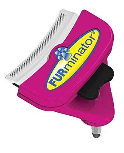 FURminator FURflex, Fellpflegebürste für große Katzen, deShedding-Aufsatz zur Entfernung der Unterwolle, Größe L