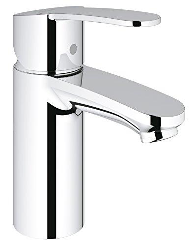 Grohe 3246820E Eurostyle Cosmopolitan, Badarmatur-Einhand-Waschtischbatterie, glatter Körper, EcoJoy, chrom, S