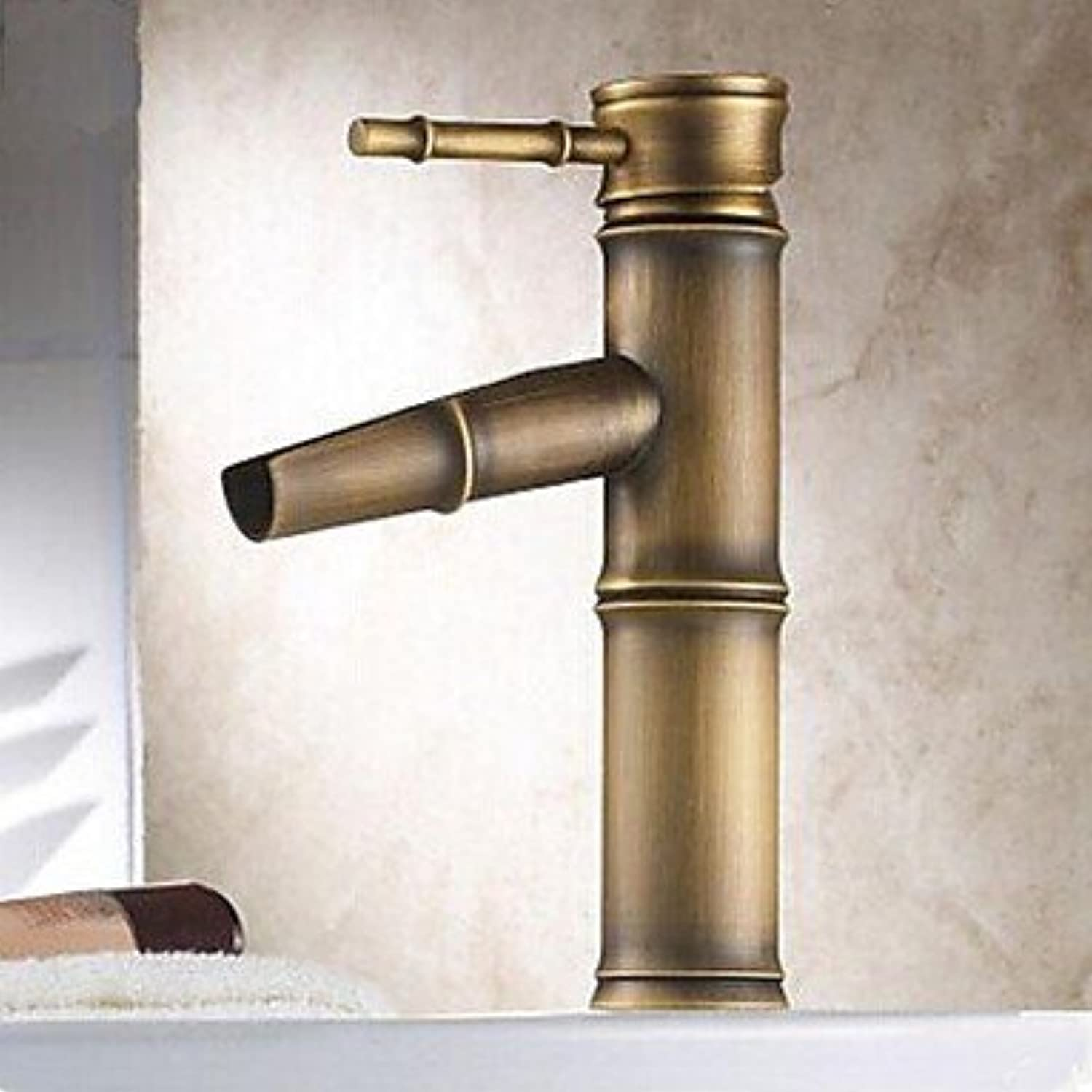 GDS Faucet£? Traditional Centerset ceramic valve bronze single handle and single hole bathroom sink faucets
