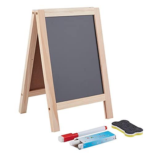 NBEADS 2 juegos de caballetes de madera de 30 x 19 cm, caballete plegable de madera para bocetos cuadrado negro caballete para dibujo y escritura, mesa superior de artes y manualidades