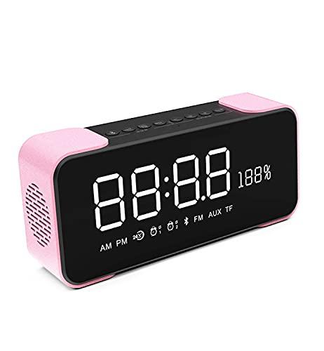 XinC Altavoz Bluetooth, Altavoz Bluetooth portátil, con un parador inalámbrico de Doble Parejas de Bluetooth 5.0, 360 Sonido Envolvente y Rico bajo, por Aire Libre, hogar y Fiesta,Rosado