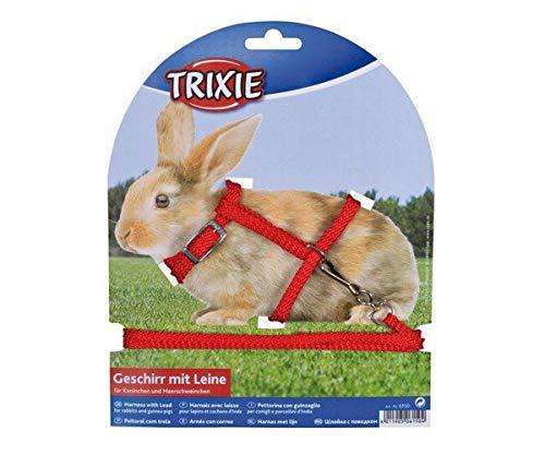 Arnés Con Agua. Para los Conejos, Sujetadores de ajuste de 25-44 / 1cm de 1,25 m, Trixie, Correa, Arnés, Roedores