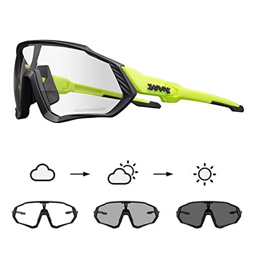 KAPVOE Gafas de Ciclismo Fotocromáticas con TR90 Gafas de Sol Deportivas Mujeres Hombres Running Transparente MTB Accesorios de Bicicleta 20A