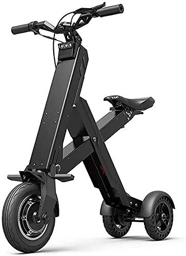 Xiaokang Trottinette électrique pour adulte, corps en alliage d'aluminium ultra léger, mini trottinettes électriques pliables, 300 W, scooter électrique avec siège, noir, 10 Ah (30 km)