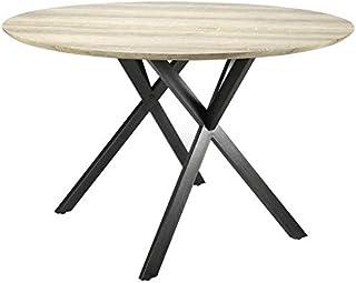 L'Héritier Du Temps Table Ronde Hinsk Table de Repas Hinsk Design Indus 76x120x120cm