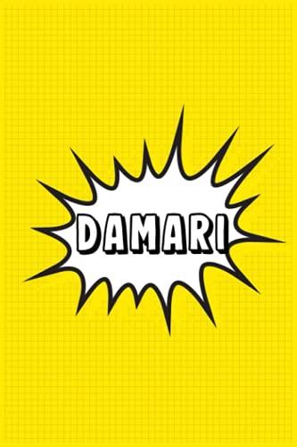 Damari: Personalized Name Damari Notebook, Gift for Damari, Diary Present Idea