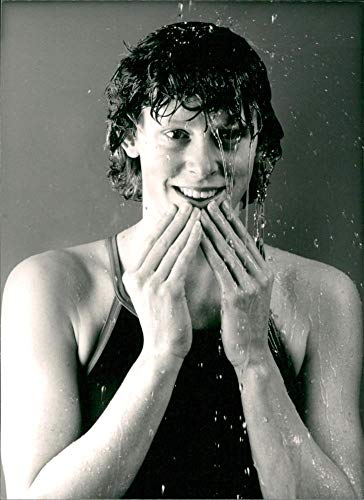 Vintage photo of Dutch Swimmer Annemarie Verstappen, World 200 Meters Freestyle Swimming Champion, She won her title in Ecuador in 1982.