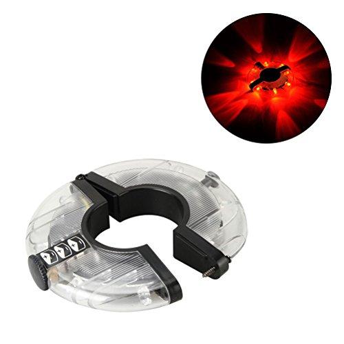 Winomo LED per ruota di bicicletta razze Bike warning Light Magic string tire Accessories RIM luci rosso