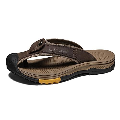 N\C Summer Leather Men's Slippers Beach Casual Casual Sandals Fashion Men's Flip Chanclas