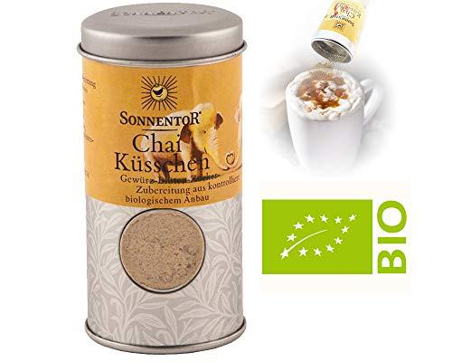 Polvere Chai Chaï Spice Fiori 70g Shaker Box | Zucchero Di Barbabietola Piccante Con Cardamomo Cannella E Zenzero Biologico - Per Dessert Dolci Mousse Milk On Coffee Chai Latte