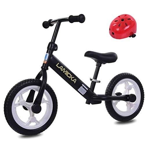 Zhangpu - Bilanciamento per bambini, per bambini da 12 anni, leggero, senza pedale, con sedile regolabile e casco di colore casuale