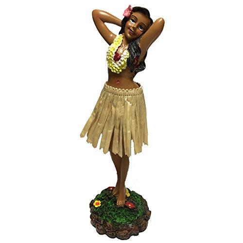 KC Hawaii Leilani Dashboard Hula Doll Flower Placing Pose 7 inch