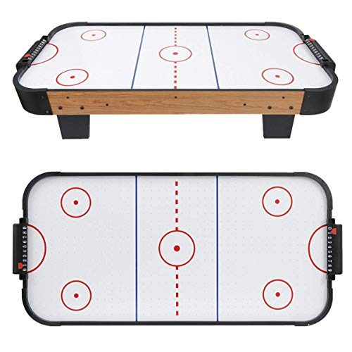 Why Choose Plastic Air Motor Hockey Table Top Game Set White Durable Sturdy Heavy Duty Portable Ligh...